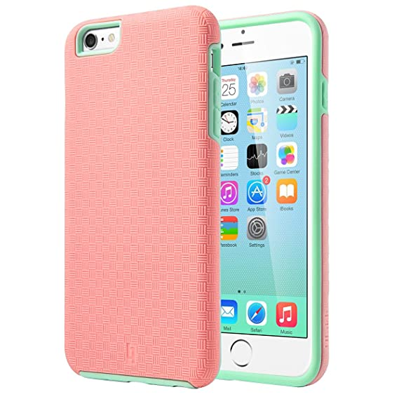 big sale f449a 3e5a6 iPhone 6s Plus Case, ULAK Hybrid Heavy Duty Shockproof Dual Layer  Protective Slick Armor Case for Apple iPhone 6s Plus 5.5 inch Device (Rose  Red+Mint ...
