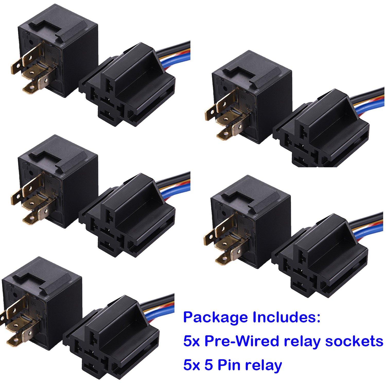 Fafada X V A Pin Relay Switch WSocket Holder For Car - 5 pin relay socket