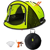 Zenph Automatic 2-3 Persons Family Camping Tent, 3 Seconds Automatic Opening Waterproof Sun Shelter, Automatic Instant…