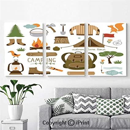 3pcs Triple Decoration Painting Wall Mural Camping Equipment