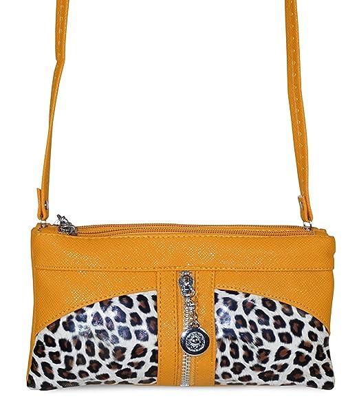 85d5e74ae5aae7 Amazon.com: Leopard Print Crossbody Purse (Gold): Clothing