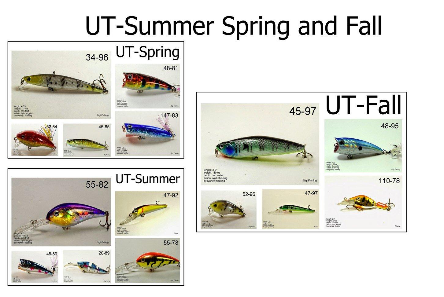 最安価格 Akuna 季節ごとのルアー アメリカの50州それぞれのバス釣り用 B00KXHVMAM ユタ(Utah) Spring/Summer/Fall - Spring/Summer/Fall Akuna 15 pack|ユタ(Utah) ユタ(Utah) Spring/Summer/Fall - 15 pack, RIZING:286faed2 --- arianechie.dominiotemporario.com