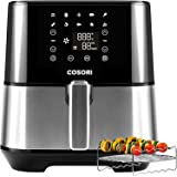 COSORI Air Fryer (100 Recipes, Rack, 11 Functions) Large Oilless Oven Preheat/Alarm Reminder, 5.8QT, Digital-Stainless steel