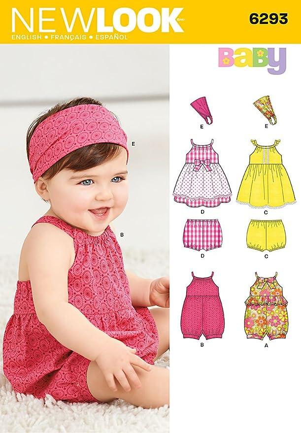 New Look 6293 Größe A Baby \'Strampler/Kleid/Höschen und Haarband ...