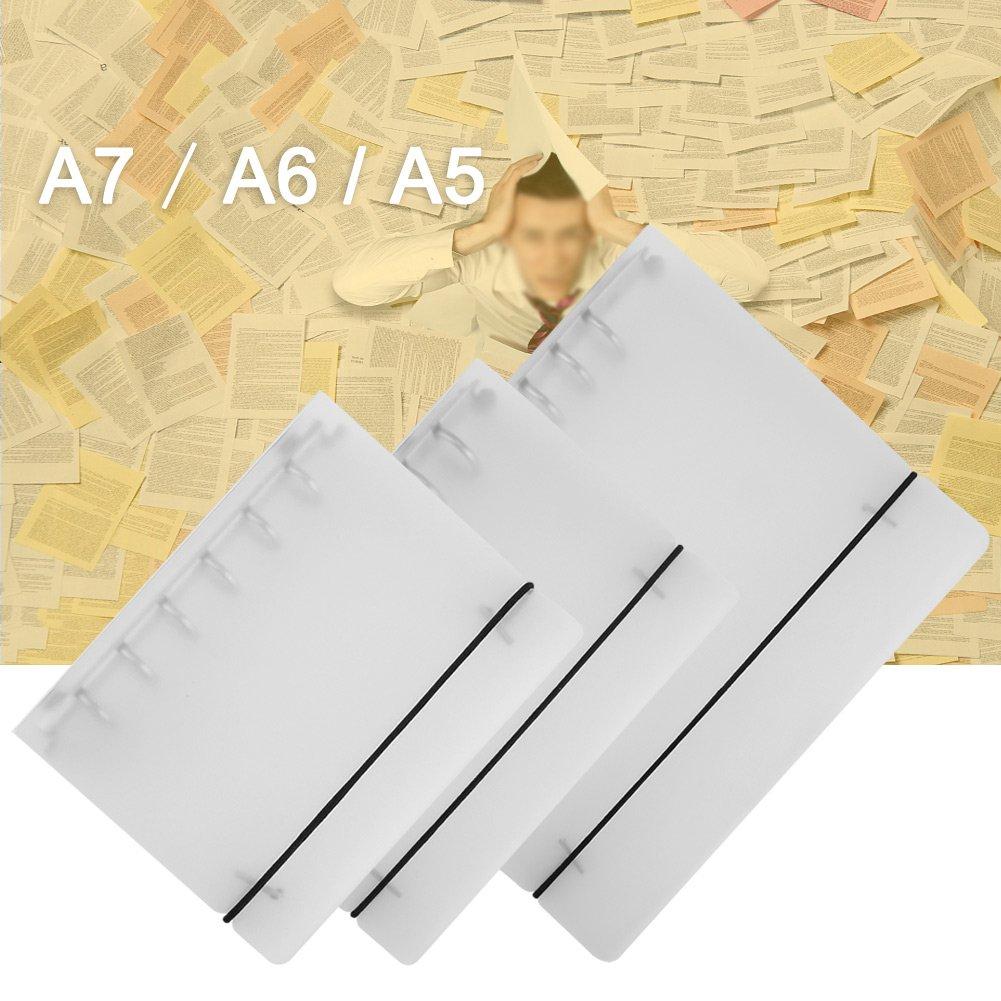 GLOGLOW Reliure /à Anneaux de 3 Types A5 Le Bureau et l/école carnet de Notes Scrapbook Album Photo Couverture de Reliure /à Feuilles Mobiles Conception Robuste pour la Maison