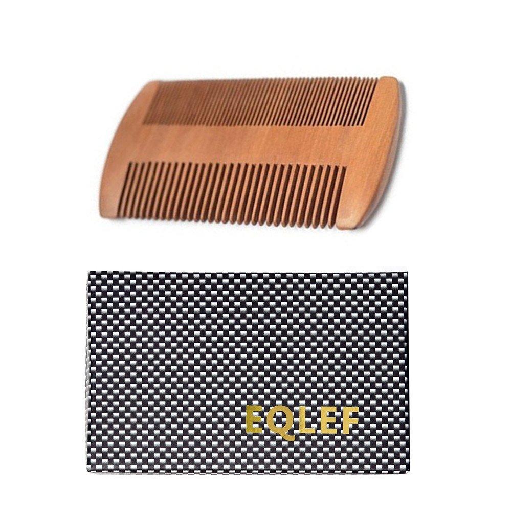 Sandelholz Horn Kamm Handgefertigter hochwertiger Natur Sandelholz Horn Kamm (breite Zähne) EQLEF®
