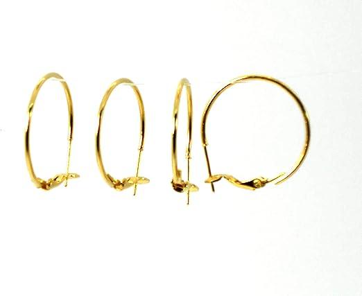 16X0.51mm beadsnice 14K Gold Filled Kidney Ear Wires Hoop Earrings Jewelry Findings
