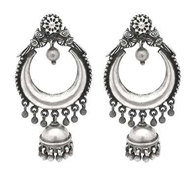 00b26b8955286 Buy Pure Silver Jhumki/ Jhumkas 92.5 Sterling Silver Fashion Stylish ...
