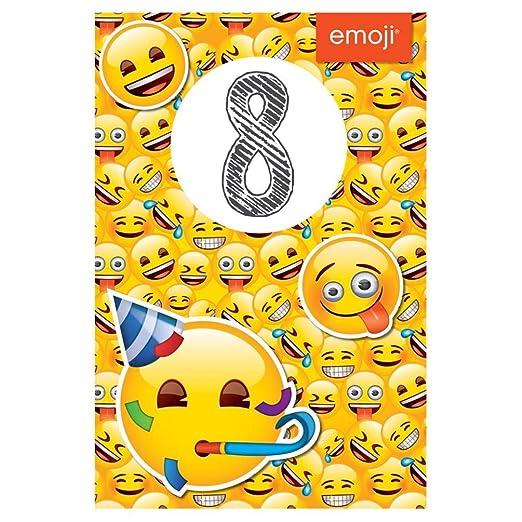 Amazon.com: Emoji - Tarjeta de cumpleaños de 8 años: Office ...