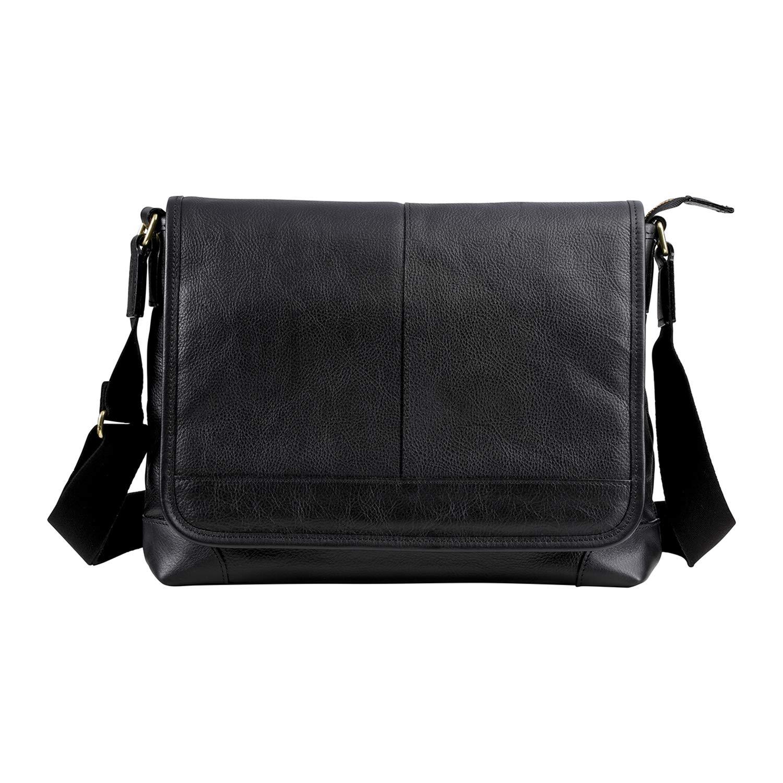 [豊岡鞄]ショルダーバッグ 豊岡鞄 皮革横カブセショルダー B5サイズ収容 682936 B07G72HGSD ブラック