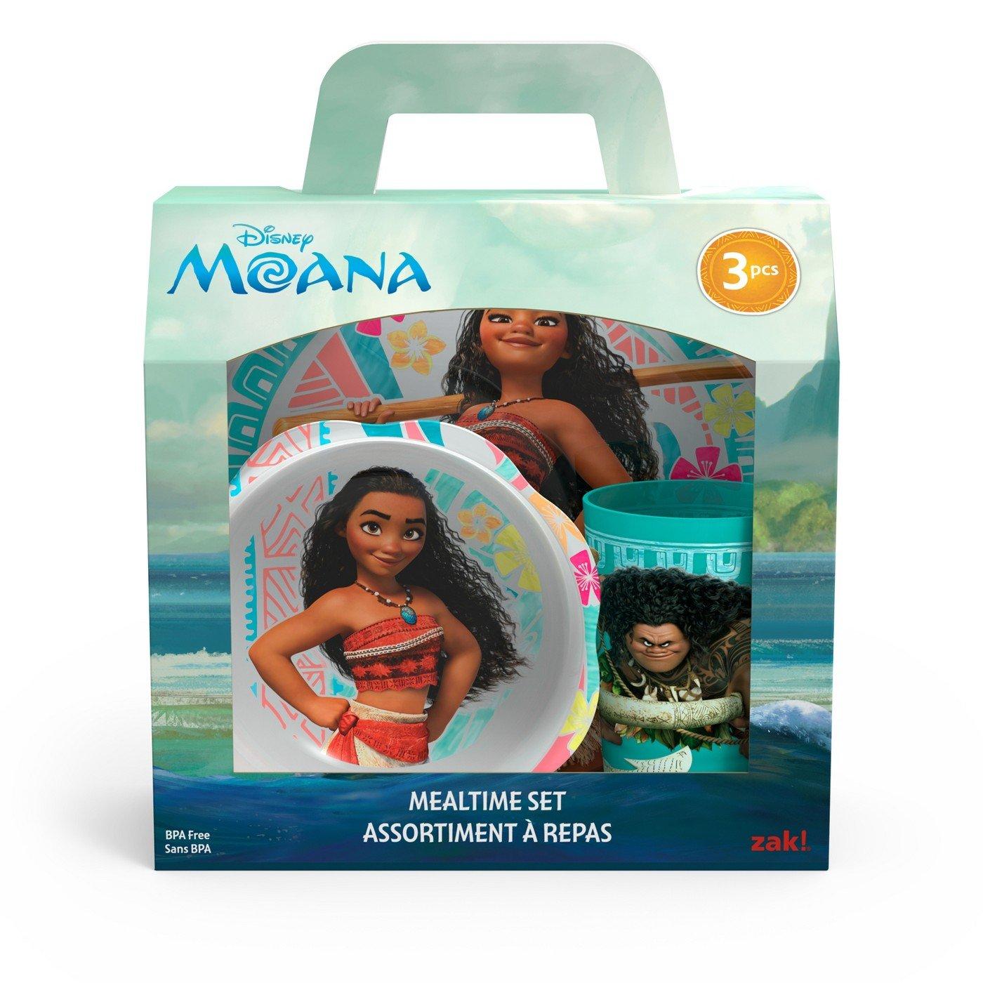 Moana Mealtime 3pcs Set BPA Free by Zak Designs Set