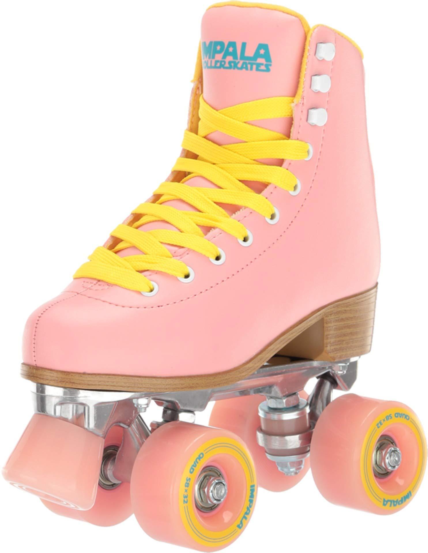 Impala Rollerskates Girls Impala Quad Skate Big Kid//Adult Aqua 1 M