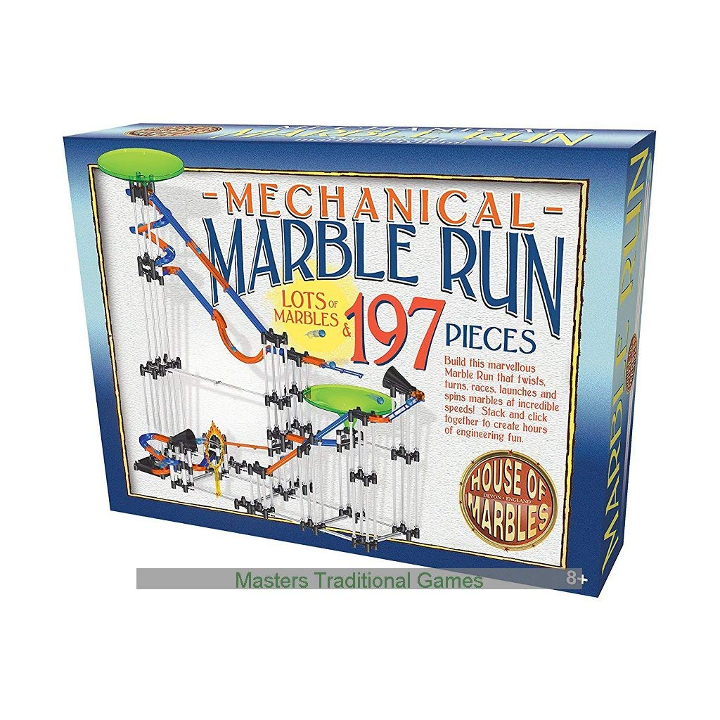 197 Piece Mechanical Marble Run - House of Marbles - Large Giant Game Jump Race by House of Marbles by House of Marbles (Image #1)