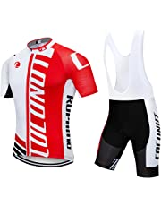 1cefd1443 Men s Cycling Jersey Short Sleeve Full Zip Bike Clothing Set
