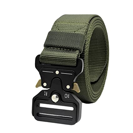 120cm Outdoor HeavyDuty Rigger Military Tactical Belt Quick-Release Metal Buckle