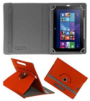 Acm Rotating 360 deg; Leather Flip Case for Nokia Lumia 2520 Cover Stand Orange Touch Screen Tablet Bags   Cases