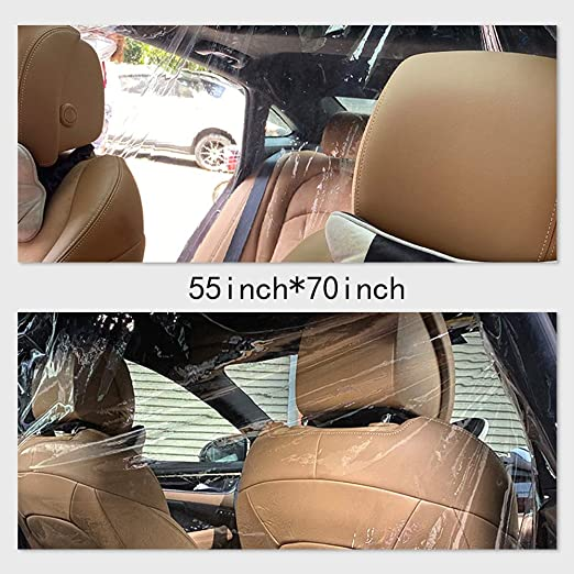 54inx71in//1.4x1.8m Airsnigi Car Taxi Isolation Film,Transparent Isolation Curtain Cab Front and Rear Anti-Saliva Car Protective HD Plastic Film,Plastic Anti-Fog Full Surround Protective Cover Protect from Germ Smoke Dust