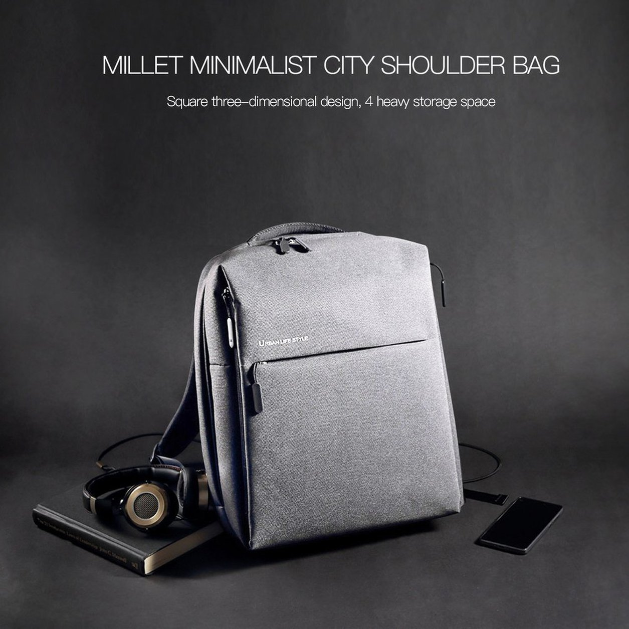 Impermeable Minimalista Viaje Mochila Estilo de Vida Bolso Urbano Xiaomi Mi Bolso Vida de la Ciudad 4ee3cc