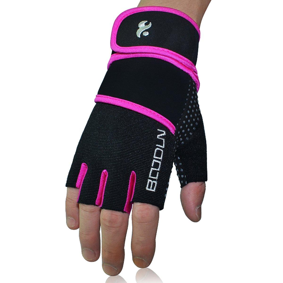 Guantes para levantar pesas para hombre y mujer de Kungken con palma de silicona antideslizante, proporciona apoyo para la práctica de gimnasia, ...