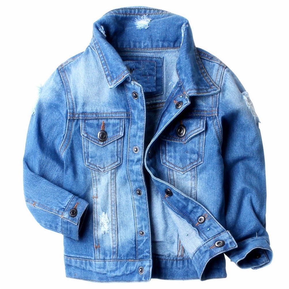 Mrsrui Kids Boys Girls Hooded Denim Jacket Coat Outerwear