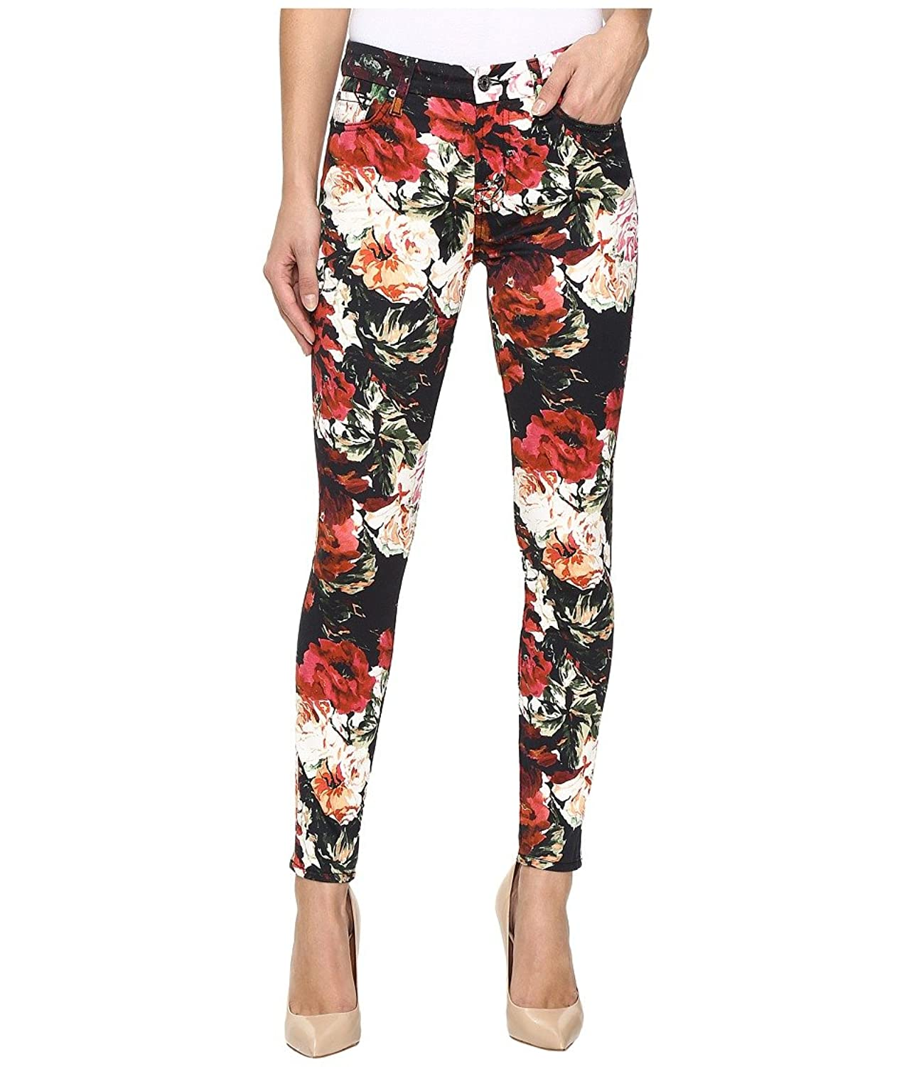 7 For All Mankind Womens The Ankle Skinny w/Contour Waist Band In Victorian Garden
