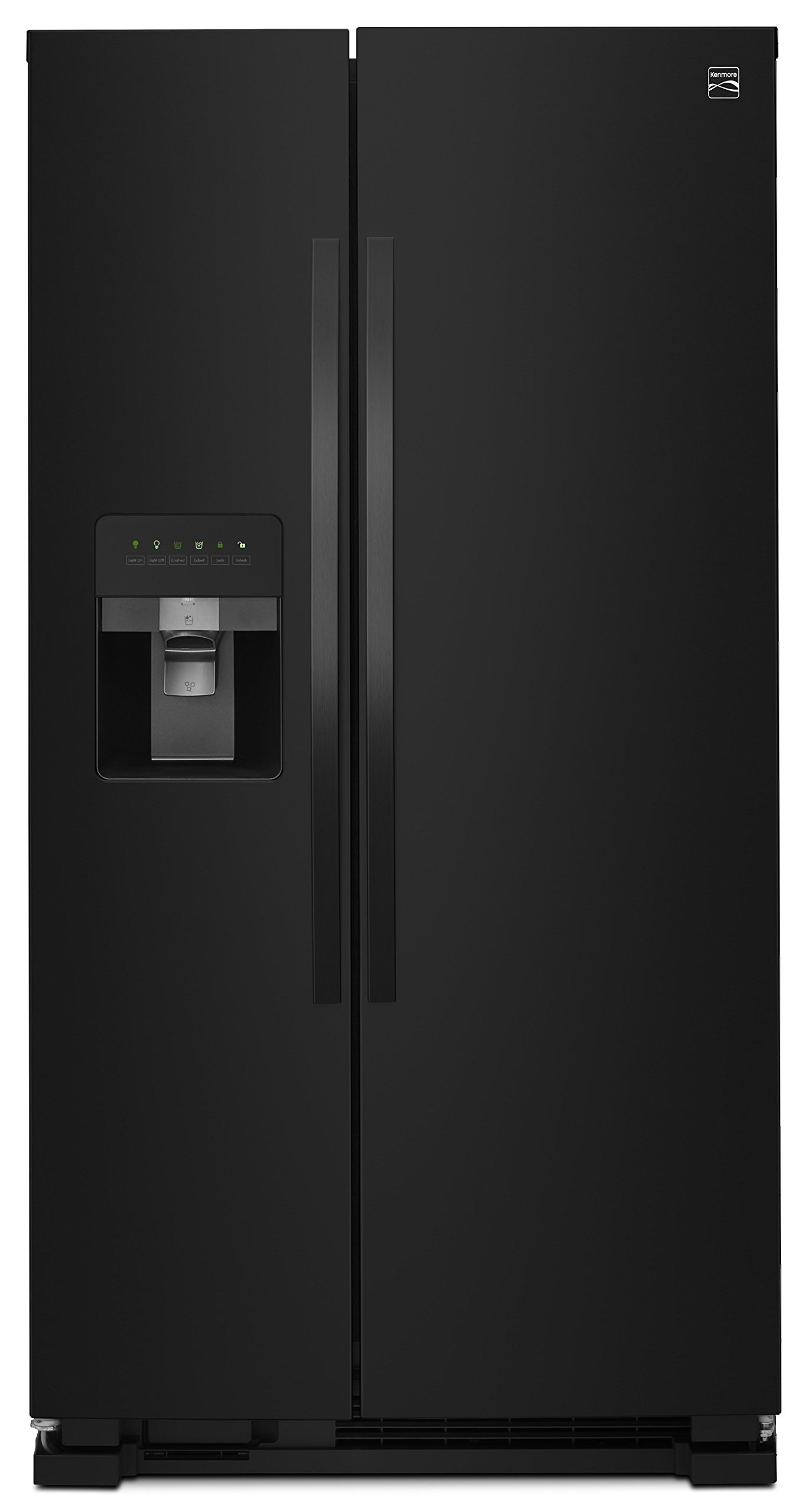 Kenmore 50049 25 Cu. Ft. Side-by-Side Refrigerator with Ice Maker with Window in Black, includes delivery and hookup (Available in select cities only) by Kenmore