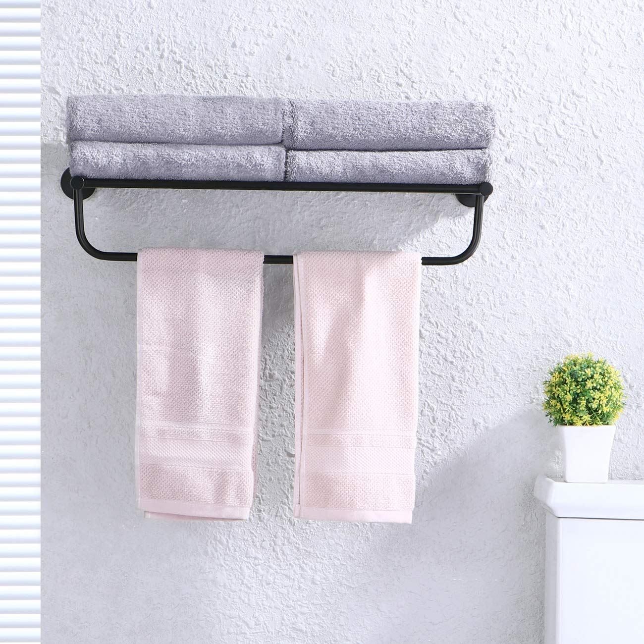 Amazon.com: KES A2110 - Toallero minimalista con barra ...