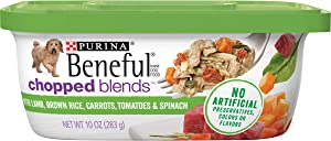 Purina Beneful Wet Dog Food, Chopped Blends With Lamb - (8) 10 oz. Tubs