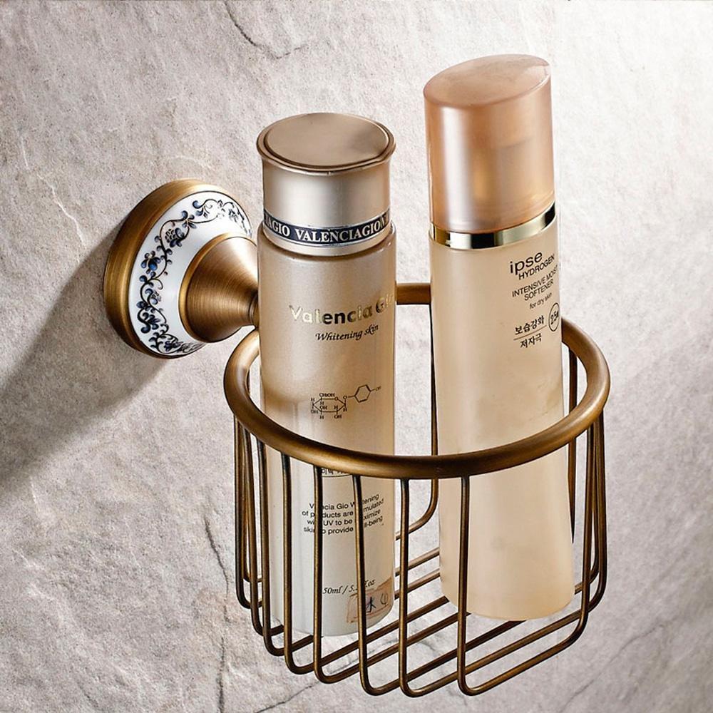 LINA-Cobre antiguo estante rodillo papelera pared montado Portarollo de baño estante de toalla de papel: Amazon.es: Hogar