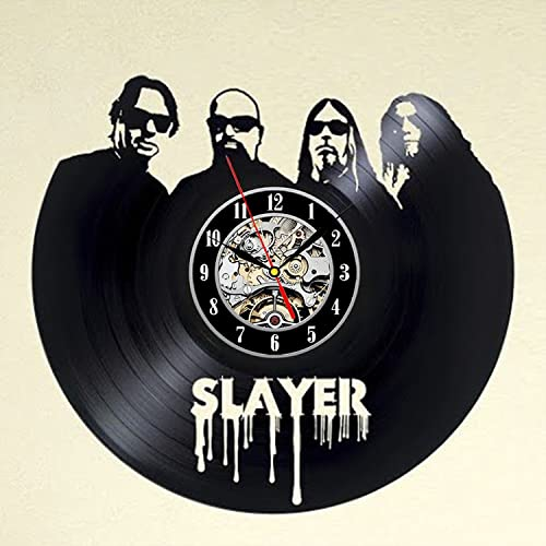 Slayer Art Vinyl Wall Clock Gift Room Modern Home Record Vintage Decoration