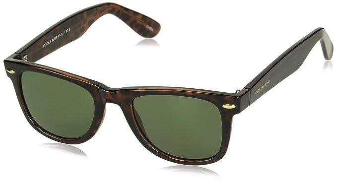 abe25b228806 Amazon.com: Lucky Camp Rectangular Sunglasses, Tortoise, 51 mm ...