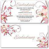 (10 X) Einladungskarten Geburtstag Blumen Geburtstagseinladungen Karte  Einladungen