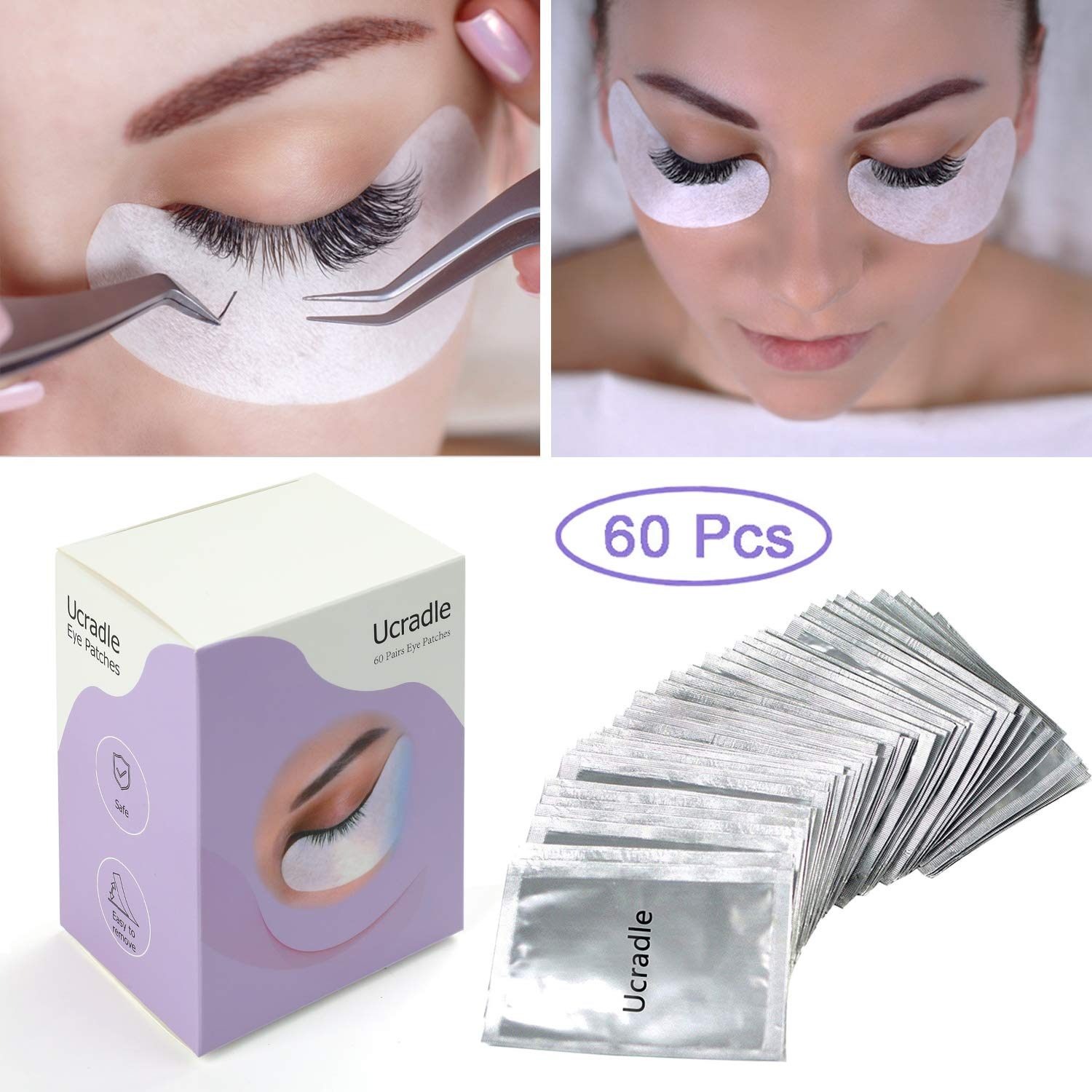 98ae9c8e0a2 Under Eye Gel Pads - 60 Pairs Eyelash Extension Pads Lints Free, Eyelash  Patches product