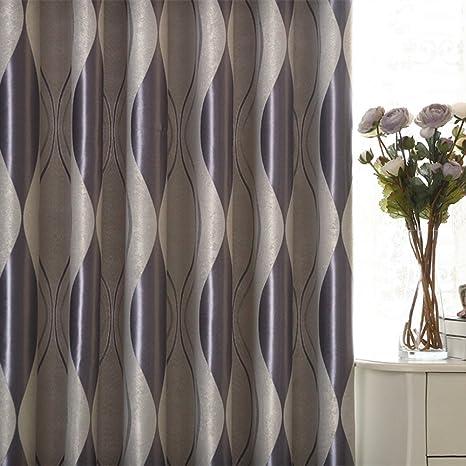 adaada Set de 2 géométrique moderne Luxe Rideaux pour salon ...