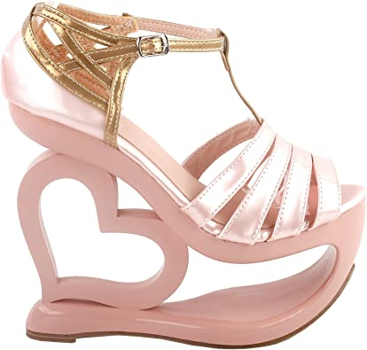 SHOW STORY Elegant Baby Pink T-Strap