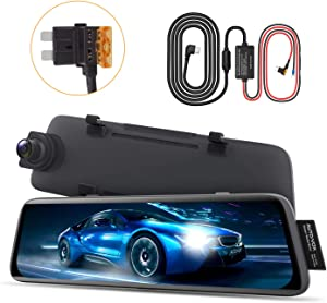 AUTO-VOX Parking Monitor Set, Hardwire with Regular Fuse Type-C USB Port 12V-5A & V5 Streaming Dashcam