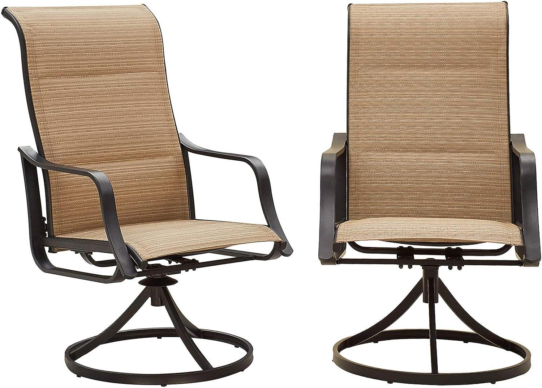 Romayard Outdoor Swivel Dining Chairs