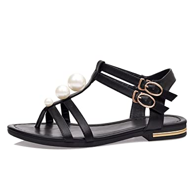 513500fb9 Processes Women 2018 Summer Genuine Leather Shoes Woman Flat Sandals Womens  Fashion Ankle Warp Ladies Black