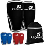Knee Sleeves 7MM (1 Pair) - High Performance Compression & Support for Weight Lifting, Cross Training & Powerlifting - For Bo
