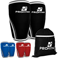 ProFitness 7MM Knee Sleeve (Pair) - Squat Knee Support & Compression for Powerlifting, Weightlifting, Crossfit WOD…