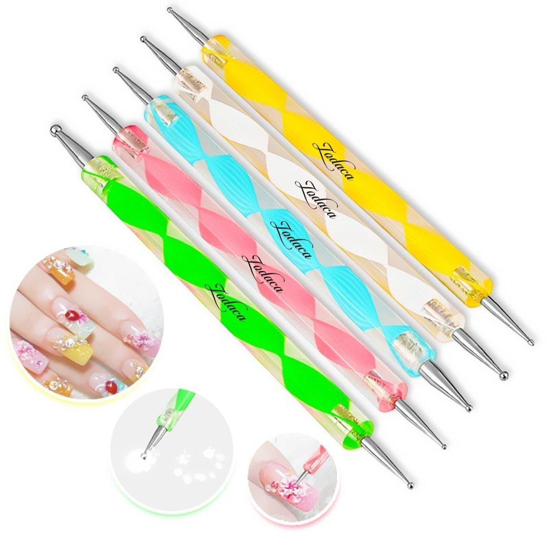 5PC 2voies Dotting Pen Outil Nail Art Tip Dot Peinture kit de manucure Naisicatar