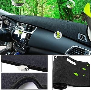 Maiqiken Car Custom Dash Cover for Jeep Cherokee 2014-2020 Altitude Base Latitude Limited North Sport DashMat Dash Board Cover Non-Slip Sun Shade Pad Carpet Anti-UV Black line