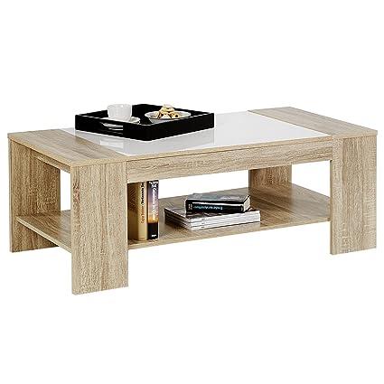 Table Basse Chene Sonoma.Idimex Table Basse De Salon Novo Mdf Decor Chene Sonoma Et
