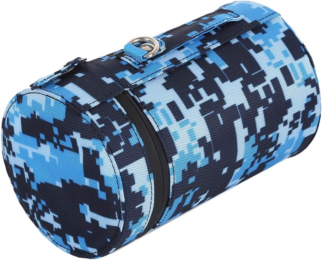 Blue Color : Blue Soft Protective Cover Goodao Camouflage Color Large Lens Case Zippered Cloth Pouch Box for DSLR Camera Lens Size: 16x10x10cm