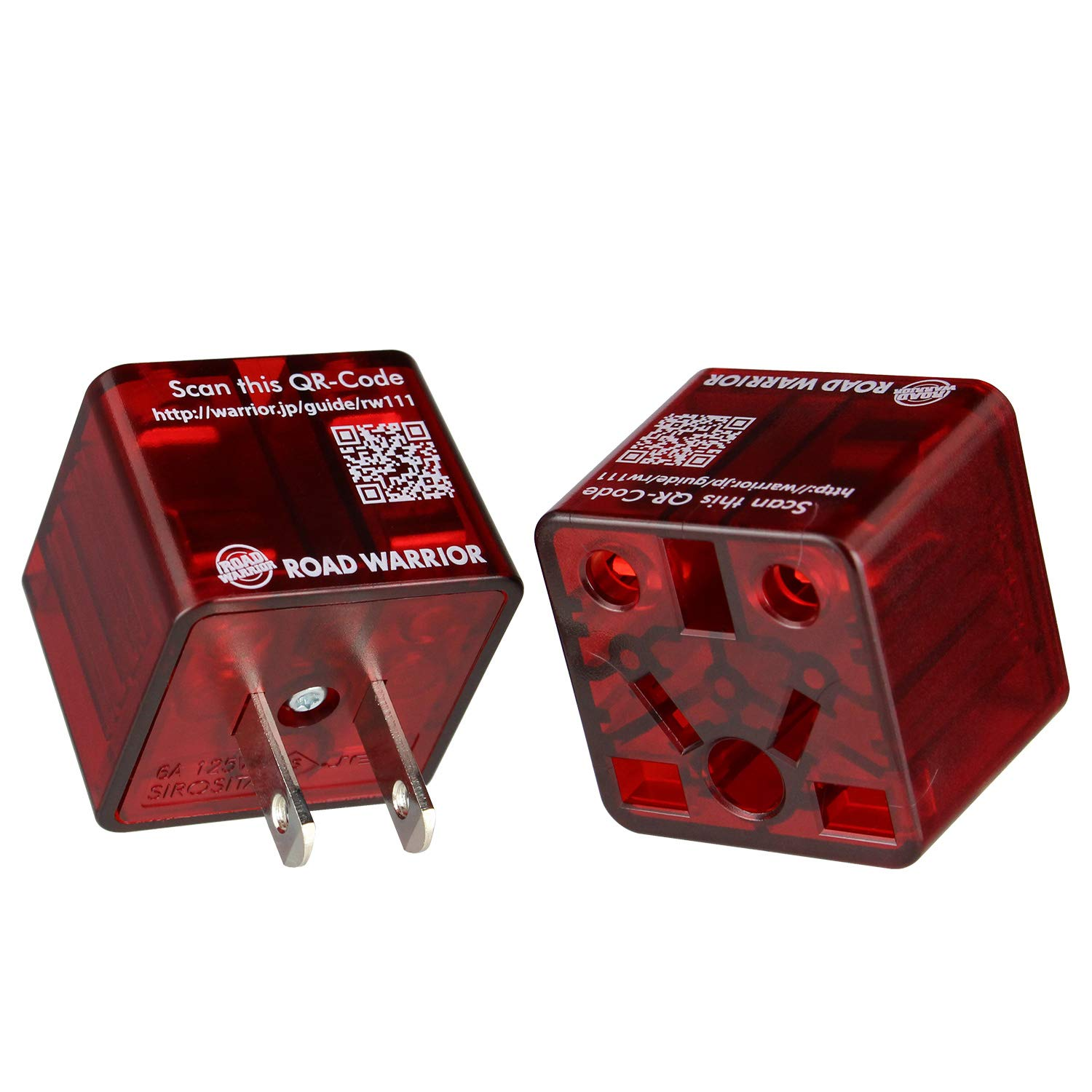 [2 Pack] ROAD WARRIOR US Travel Plug Adapter EU/UK/CN/AU/IN to USA (Type A) - RW111CR-US