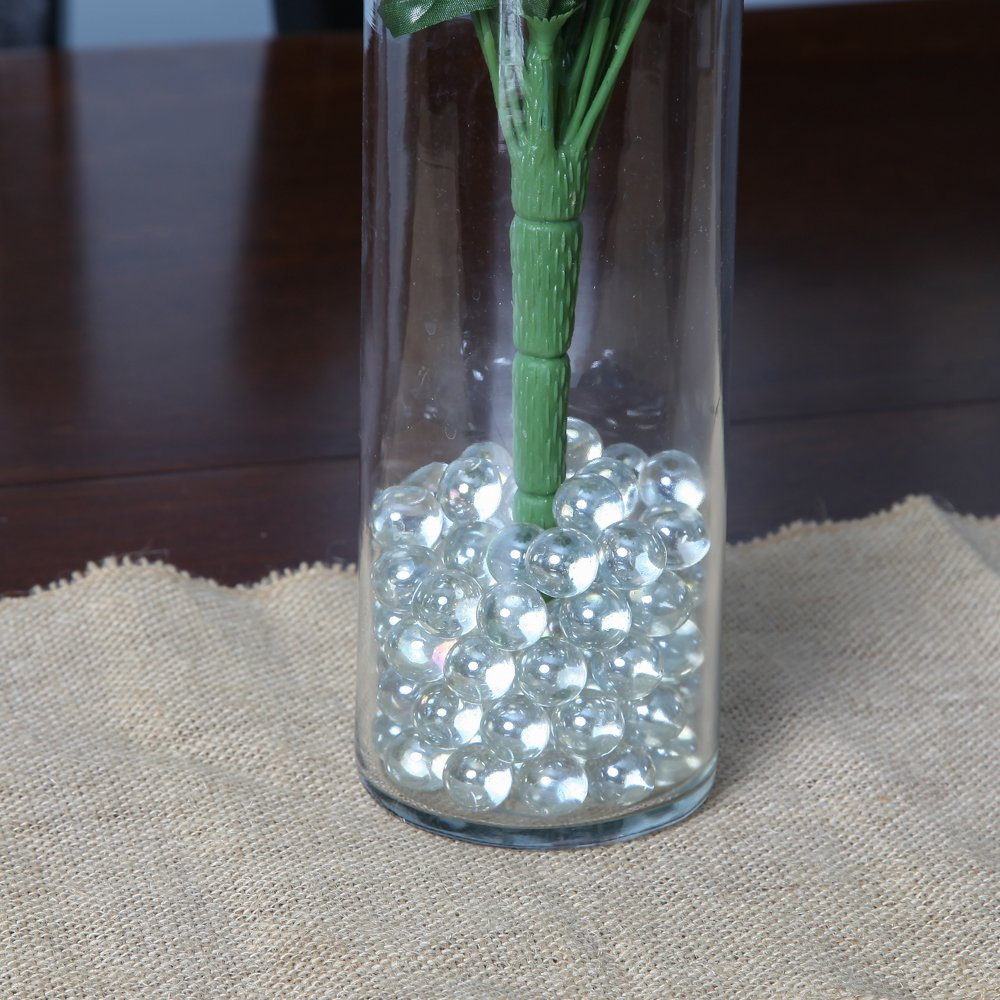 Home-X Decorative Glass Beads Vase Filler Beads 1 lb bag SH1132 vase not included Round