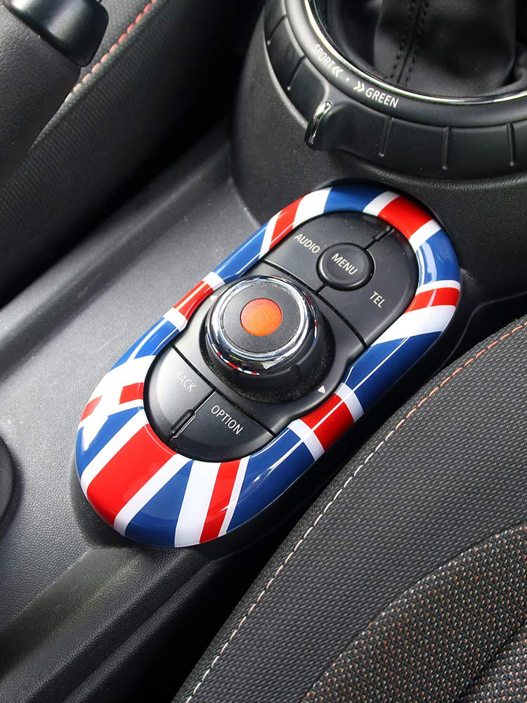 Interior Centre Media Driver Control Button Panel Dashboard Trim Cover Cap ABS For Mini Cooper ONE//S//JCW F55 Hardtop F56 Hatchback F57 Covertible Union Jack Gold