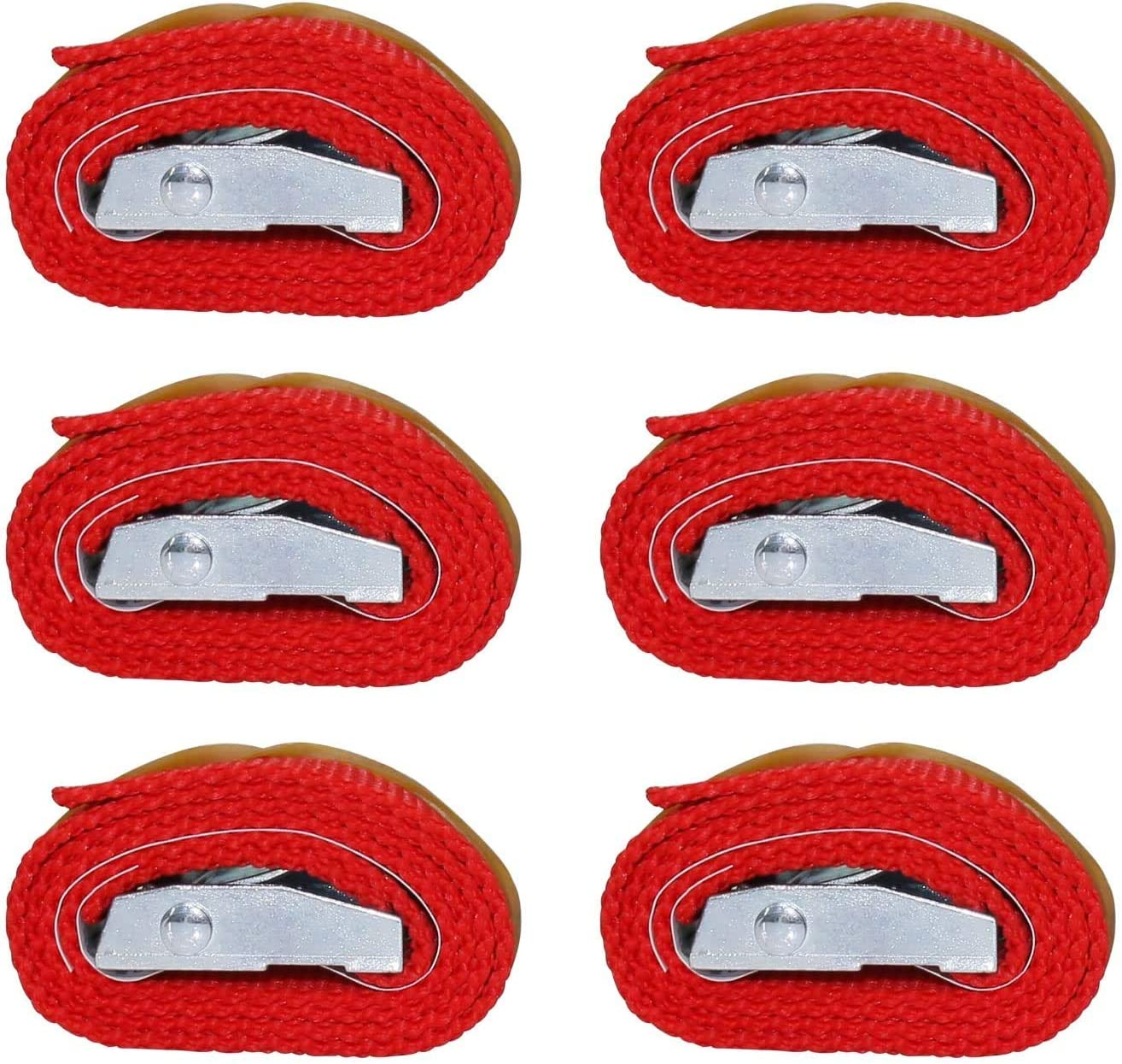 RilexAwhile Lashing Straps 2 Ft x 1 Inch Tie Down Straps up to 600lbs 6 Pack 1inch x 2ft, purple