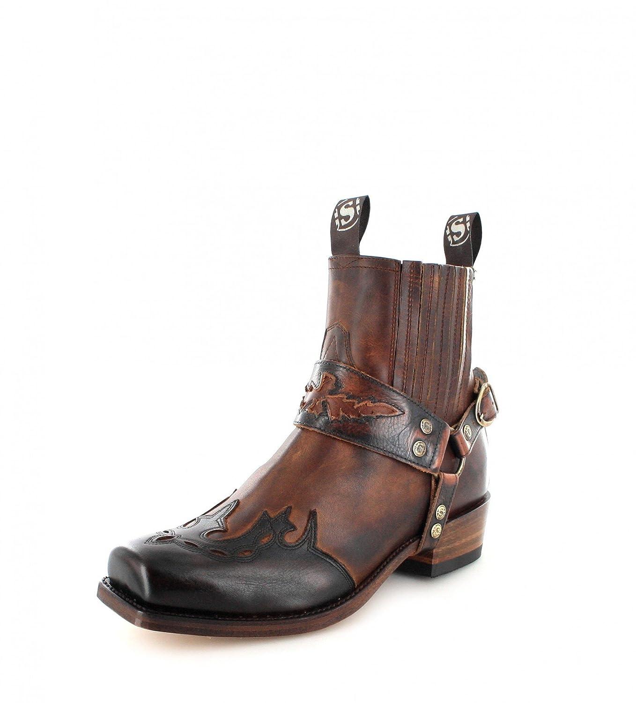 Sendra Stiefel Damen Herren Biker Stiefel 7811 7811 7811 Lederstiefel Braun aa0827