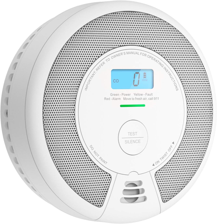 X-Sense 10-Year Battery Combination Smoke & Carbon Monoxide Alarm Detector with LCD Display, Auto Check & Silence Button, SC07